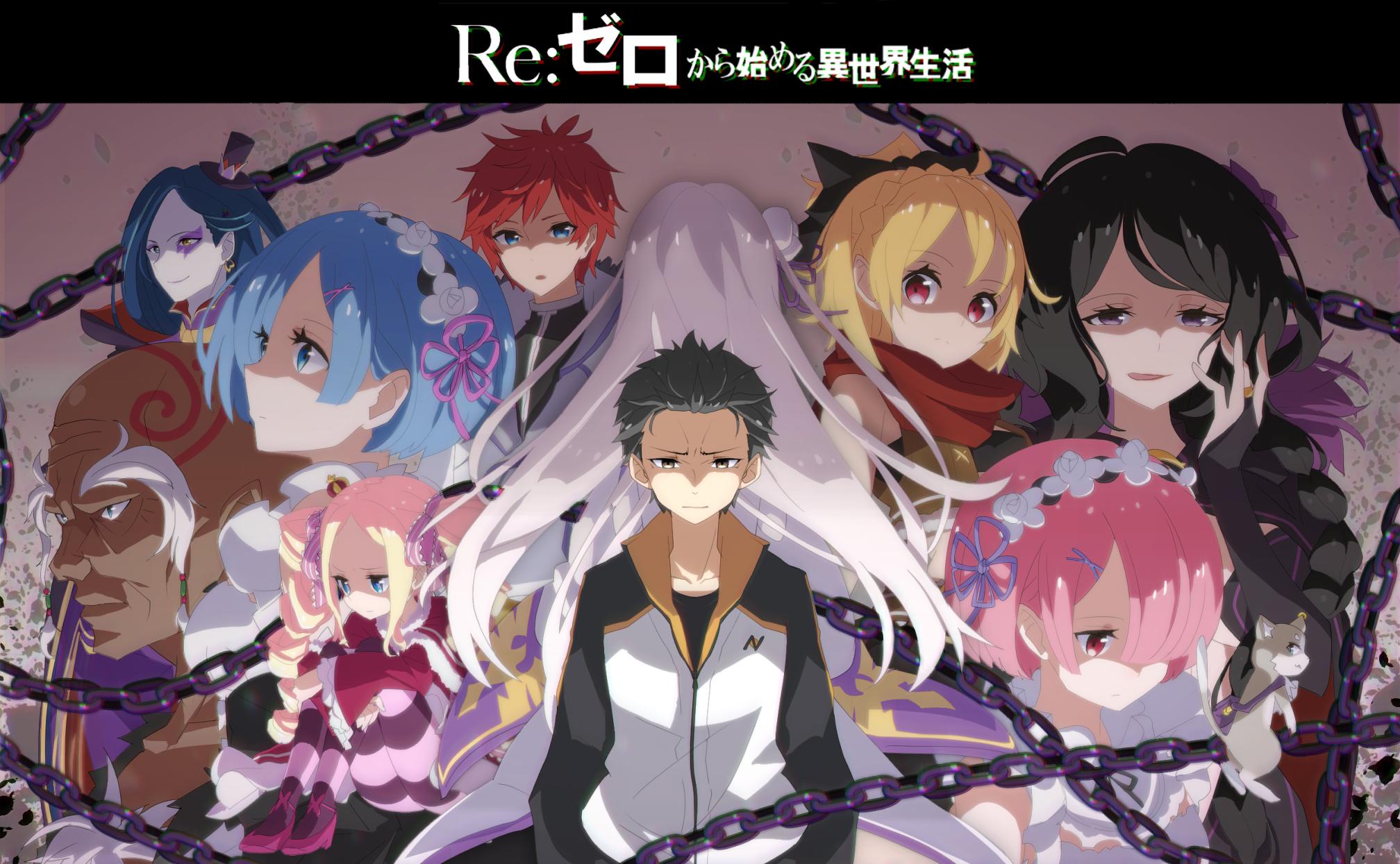 """Re: Zero kara Hajimeru isekai Seikatsu (Acortado como ReZero) es un anime de 2016 que ha tenido un gran impacto en el mundillo otaku. Su trama y la evolución argumentativa es extraordinaria y, aunque sea lento, es, con diferencia, de lo mejor que se ha producido en los últimos años. Basado en las novelas ligeras del mismo nombre y con una extension de 25 capítulos, ReZero nos contará la historia de Subaru Natsuki un estudiante de secundaria que repentinamente es invocado a otro mundo mientras regresaba del supermercado. Con la mayor crisis de su vida, hikkomori perdido y sin saber quién lo llevó ahí, las cosas se ponen peores cuando es atacado por unos bándalos. Por suerte, es salvado por una misteriosa chica de cabellos plateados con un gato mágico. Subaru, a cambio, intenta de devolver el favor ayudándola a recuperar algo que le robaron. Cuando finalmente consigue una pista, Subaru y la chica son atacados y asesinados por alguien. Sin embargo, Subaru se despierta en el lugar desde donde fue invocado y nota que ha ganado la habilidad para """"volver de la muerte"""". Esto lo convertirá en un chico desesperanzado cuya única habilidad es retroceder el tiempo a un cierto punto muriendo. Más allá del disparate, ¿podrá salvar la chica del destino y de la muerte?"""