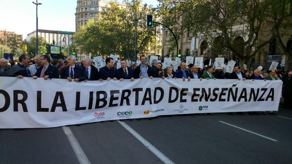 Manifestación a favor de la educación concertada